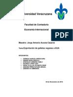 EXPORTACIÓN DE GALLETAS VEGANAS