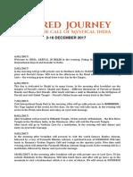 Sacred Journey India 2018