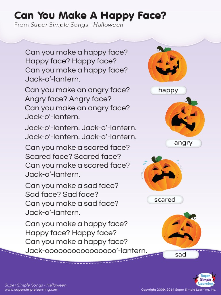 lyrics poster can you make a happy face