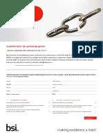 BSI ISO 22301 Self Assesment Checklist.en.Es