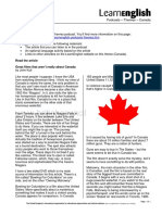 Learnenglish Podcasts Themes Canada Support Pack