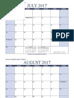 Academic Calendar Landscape