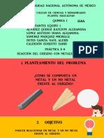 Práctica #8 Metales y No Metales Frente Al Oxígeno Equipo 1 158a
