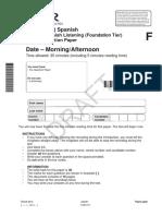 Spanish Listening Foundation Tier Sample Assessment Material