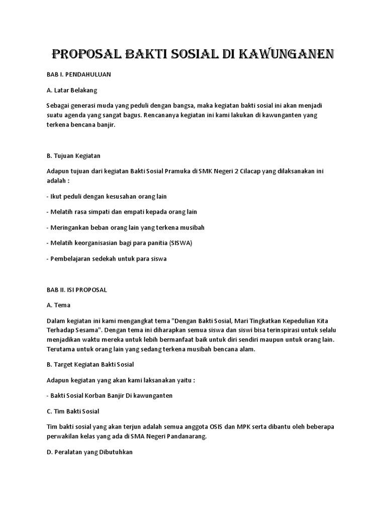 Proposal Bakti Sosial Di Kawunganen