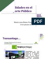 Externalidades en El Transporte Publico