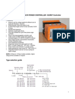 Satronix Datasheet Three Phase Digital SCR Proportional Controller