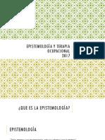 Taller - Epistemología y Terapia Ocupacional