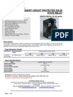 Single Phase Short Circuit Protected Solid State Relay Datasheet