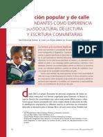 Educación Popular y de Calle; Libros Andantes Como Experiencia de Lectura y Escritura Comuntarias