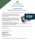 New Frameless Brushless Servo Motor Kits From Maxon Product Press Release