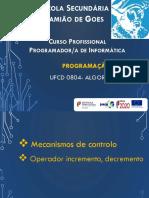 UFCD 0804-5 Estruturas de Controlo