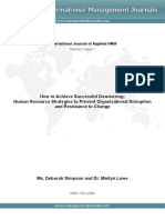 Downsizing HR