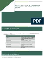 Funciones de Agregado Y Clausula GroupBy