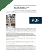 Efectos de La Minería Sobre Las Fuentes de Agua