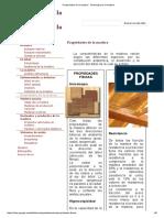 Propiedades de La Madera - Tecnología de La Madera