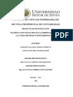 Plan Financiero Empresa DHL (Ecuador)