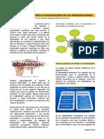 Lectura Los Stakeholders o Grupos de Interés de Las Organizaciones