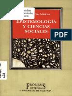 ADORNO. Epistemología y ciencias sociales.pdf