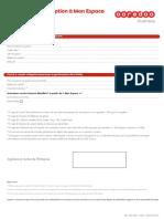 Formulaire Inscription Au Facture Det Web Ooredoo