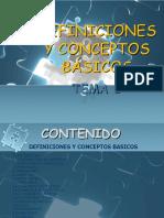 Tema 1 -Definiciones y Conceptos Basicos de Estadistica
