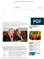 Identifican a 23 de Los 124 Candidatos Vinculados Al Narcotráfico _ LaRepublica