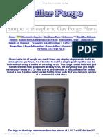 Planeja Construir Uma Simples Forja de Gás