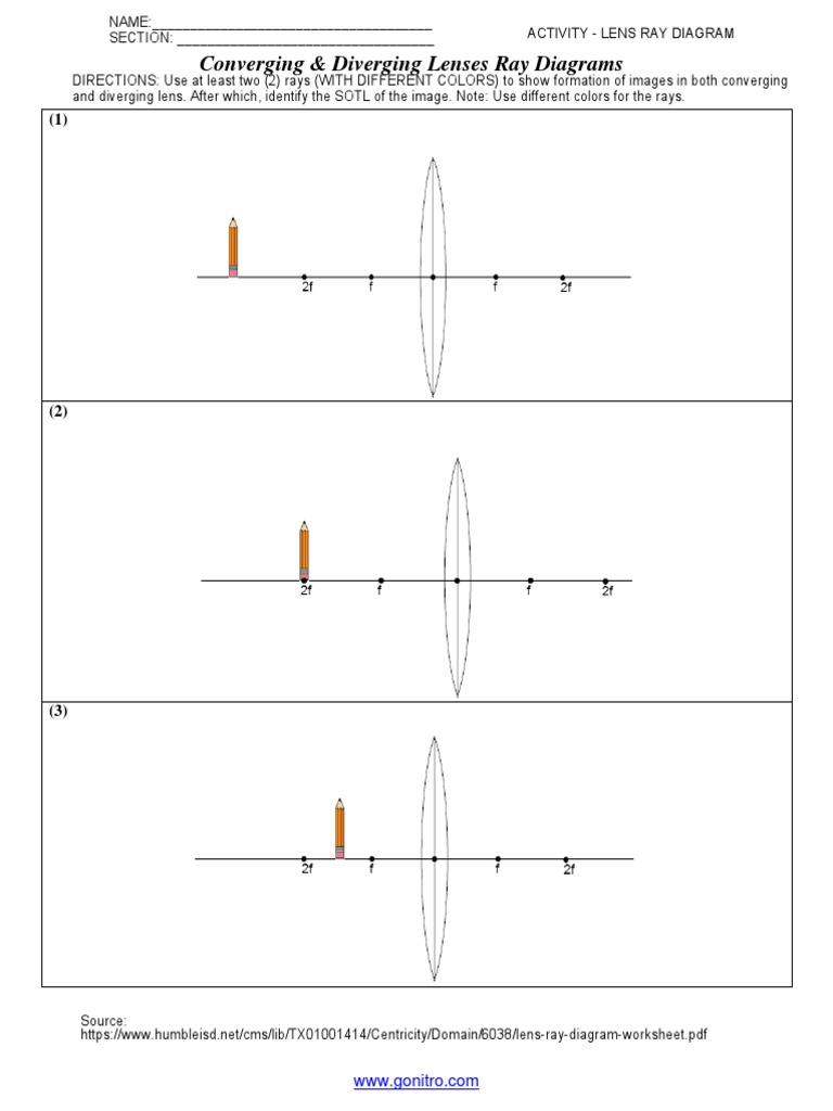 Concave Lenses Ray Diagram Worksheet - Illustration Of Wiring Diagram •