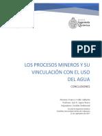 Trabajo Conclusiones Aguas en Procesos Mineros Franco Ovalle