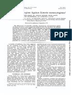 Antibiotic Synergism Against Listeria Monocytogenes1