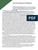Violacion a los derechos humanos en chile