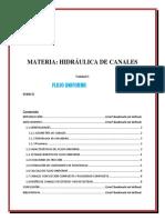 HIDRAULICA DE CANALES UNIDAD 1 Flujo uniforme