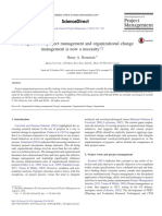 13 the Integration of Project Management and Organizational Change
