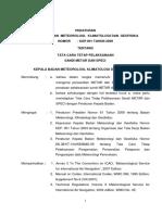 Peraturan KBMKG No.001 Tahun 2009 Tentang METAR Dan SPECI