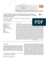 A Comprehensive Analysis of the Effect of Ethanol Methane and Methane Hydrogen Blend on the Combustion Process in a PFI Port Fuel Injection Engine 201
