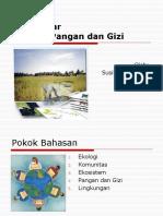 Pengantar Ekologi Pangan Dan Gizi
