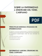 Estudio Sobre La Enfermedad Laboral Síndrome Del Túnel