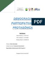 Democracia Participativa y Protagonica...