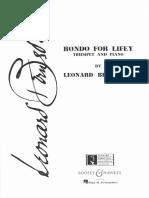 Rondo for Lifey - Trompete e Piano - LTS