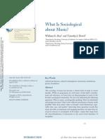 Qué es sociológico en la Música?