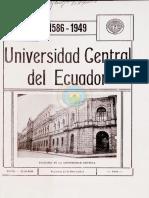Universidad Central Del Ecuador 1586 - 1949