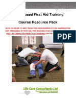 First Aid Course Resource Pack 09-2014