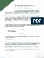 Acta Extraordinario Consejo Facultad 30-9-13