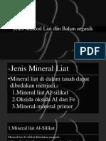 Jenis Mineral Liat Dan Bahan Organik