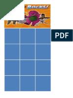 Barney Activity Card Grid