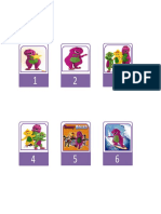 Barney Number Tags