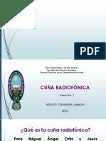 CUÑA Radiofónica  - CLASE No. 1