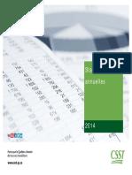 Statistique de tout les volets de la sst + tableaux utiles (160p)