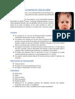 Etiopatogenia de La Paratoditis Viral en Niños