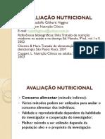 Avaliação Nutricional 1 Aula